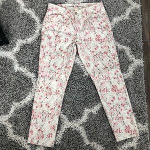 Gap Floral Print Crop Khakis Size 4